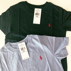 NWT Ralph Lauren Boys 4t shirts Navy & Light Blue
